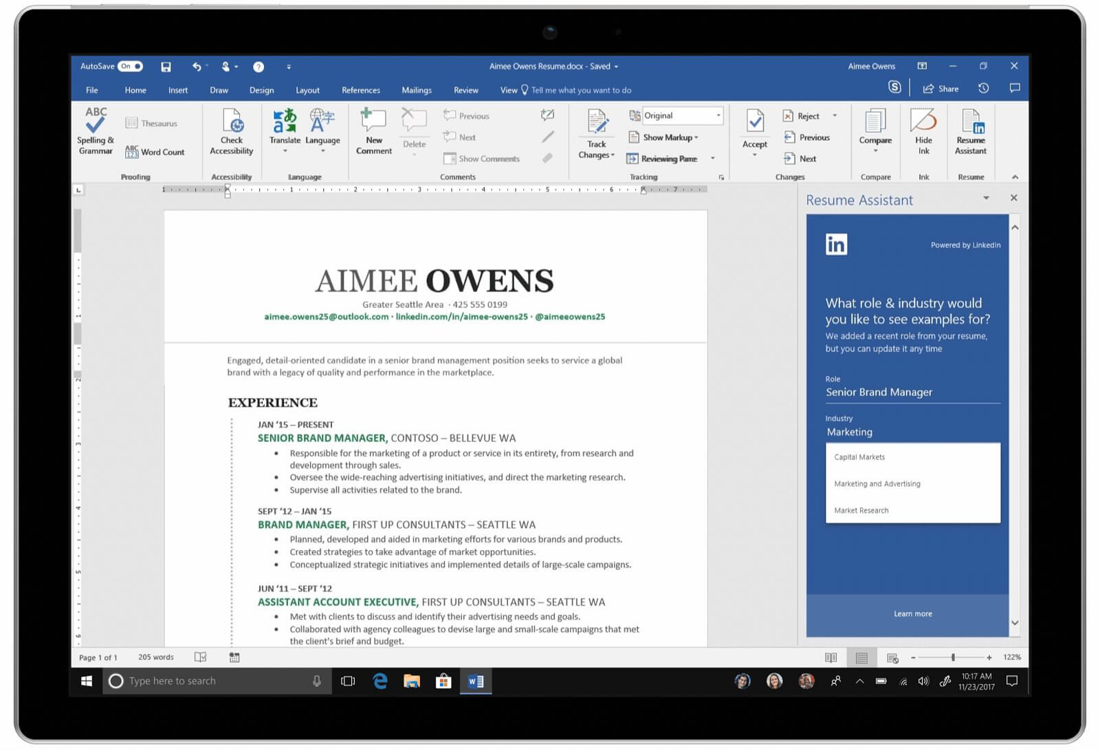 Microsoft releases LinkedIn Resume Assistant AI for Word