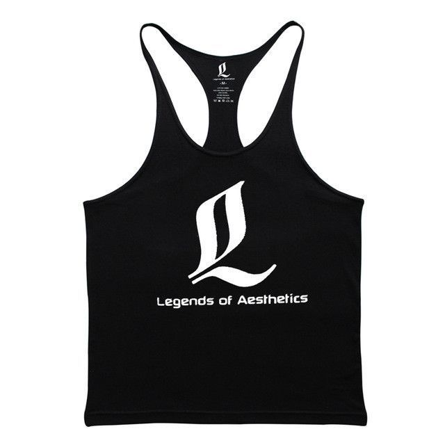 d852363f8 MUSCLE ALIVE Brand-Clothing Gyms Tank Tops Mens Bodybuilding Clothes Blank  Fitness Singlet Sleeveless Cotton Workout Stringer