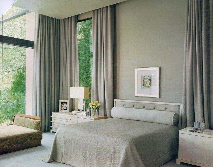 gardinen schlafzimmer gardinne in erdigen nuancen Schlafzimmer - vorhnge schlafzimmer ideen