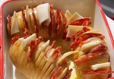 Pommes de terre rôties au chorizo et provolone