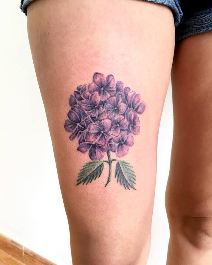 20 Splendid Hydrangea Tattoo Designs Tattoobloq Hydrangea Tattoo Tattoos Hand Tattoos