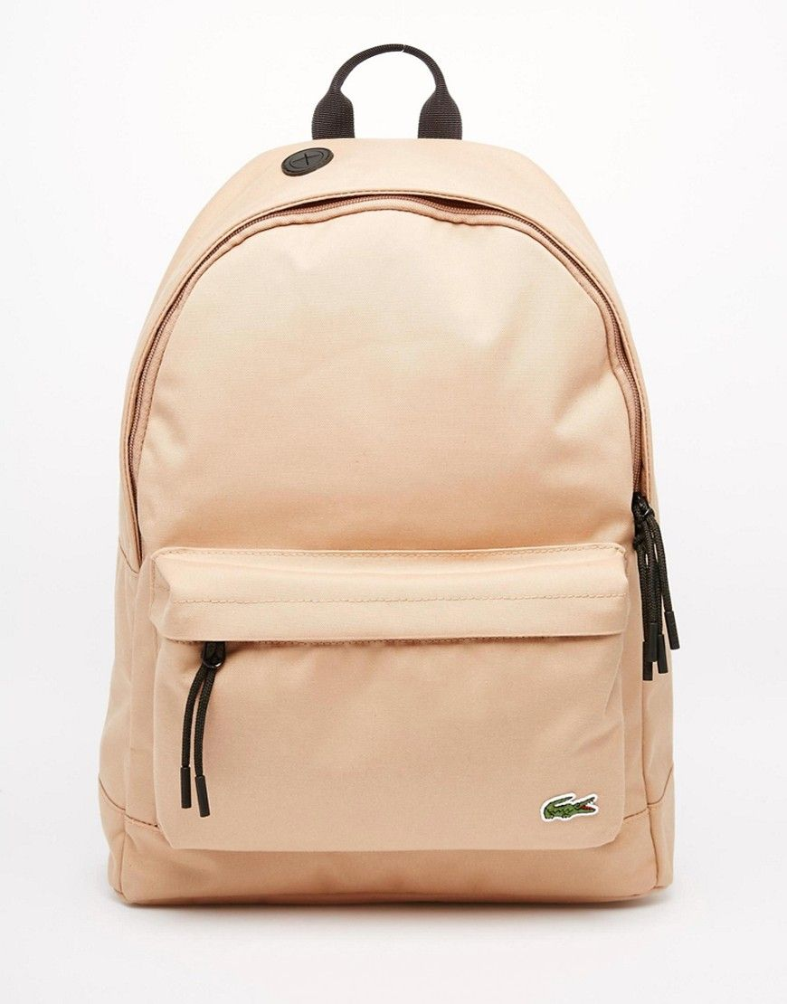 29cbd9713 Lacoste Logo Backpack | pur(chase) these | Lacoste bag, Lacoste ...