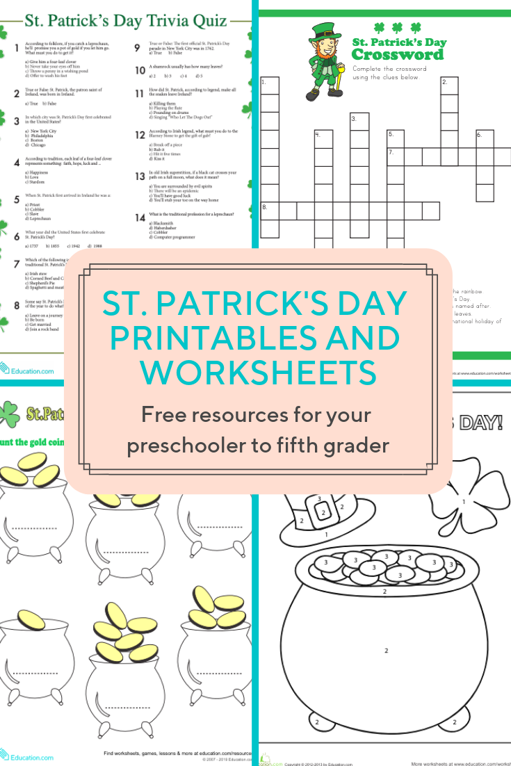 Access More Than A Hundred St Patrick S Day Worksheets And Printables Download Free Col St Patrick S Day Words St Patrick Day Activities Printables Free Kids [ 1102 x 735 Pixel ]