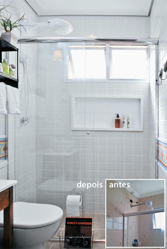 Reforma de banheiro pequeno  Banheiros  Pinterest  Empreiteira, Toalheiro  -> Banheiro Pequeno Quanto Custa