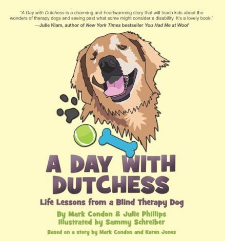 New Kids Book Shares Tale Of Blind Therapy Dog Therapy Dogs
