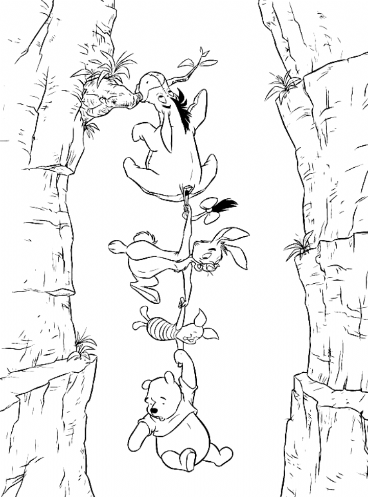 Winnie And Friends Coloring Pages Background