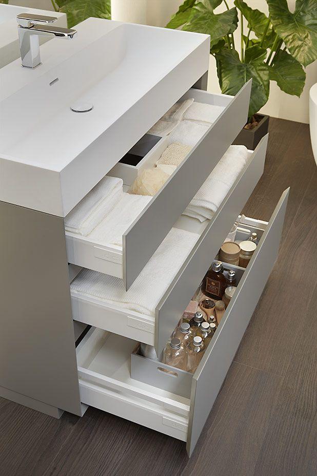 Mueble de ba o compacto almacenaje extra ba o moderno y for Mueble almacenaje bano