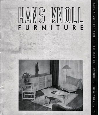 hans knoll furniture 1942 first knoll furniture catalog. Black Bedroom Furniture Sets. Home Design Ideas