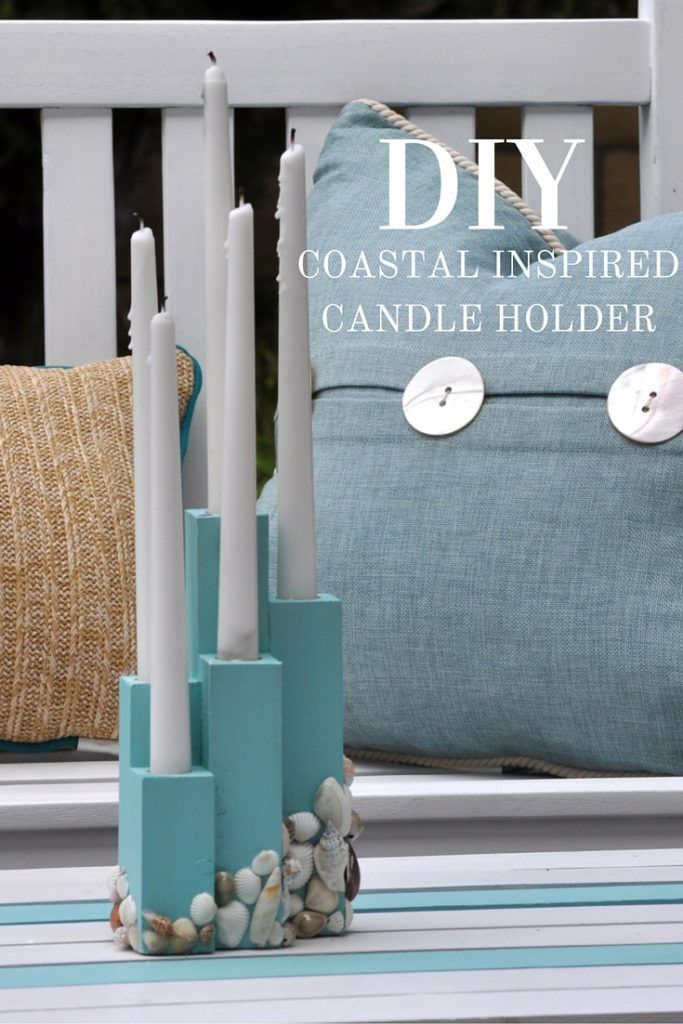 Beach Theme Candle Holder Diy Crafts For The Home Diy Candles