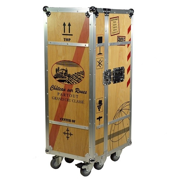 Multicase Wood Wine Crate Rollende Weinkiste Fur Wohnungen Buros Und Lofts In 2020 Flugzeugtrolley Weinkiste Kiste