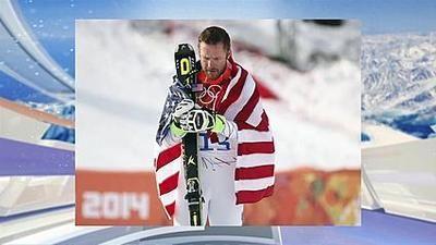 Bode Miller won bronze in the Super-G downhill skier in Sochi 2014.