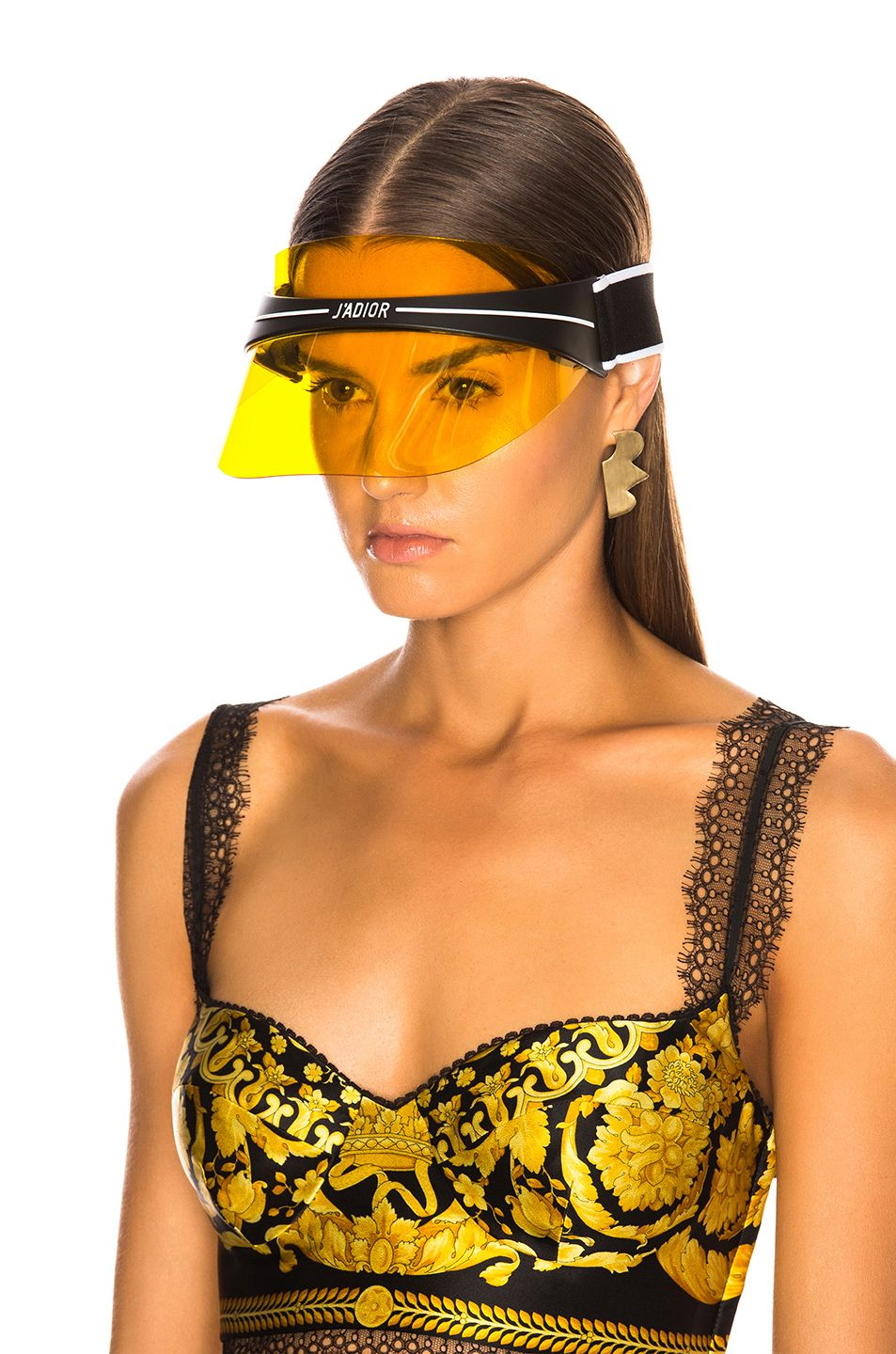 3d6aacadaef Image 5 of Dior Club 1 Visor in Yellow