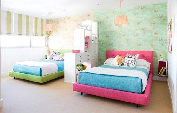 deco moderne chambre enfant mixte  Kids bedrooms en 2019  Chambre enfant Idee deco chambre