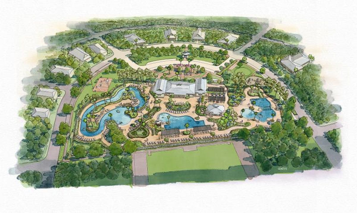 Camp Watercolor Lazy River And Pool Expansion