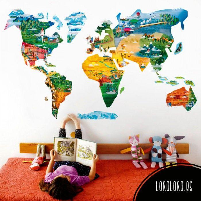 Mapamundi Infantil  Mapamundi Los planetas y Planetas