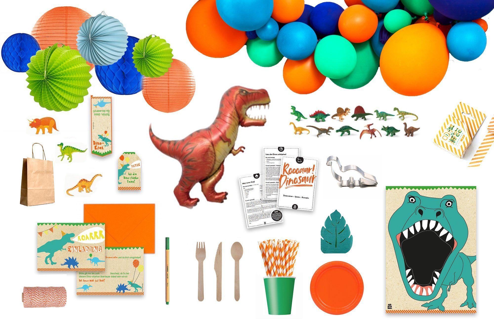 Saurier Geburtstag Wimpelkette T-Rex 1 Dino Buchstabengirlande Happy Birthday