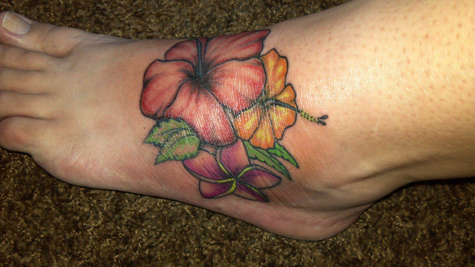 Hawaiian Flower Foot Tattoo Tattoos Pinterest Tattoos Flower
