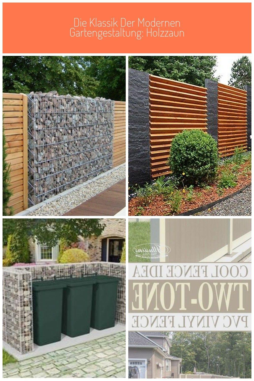 Gabione Und Holz Kombination Gabionen Zaun Die Klassik Der Modernen Gartengestaltung Holzzaun Gartengestaltung Garten Straight Edge