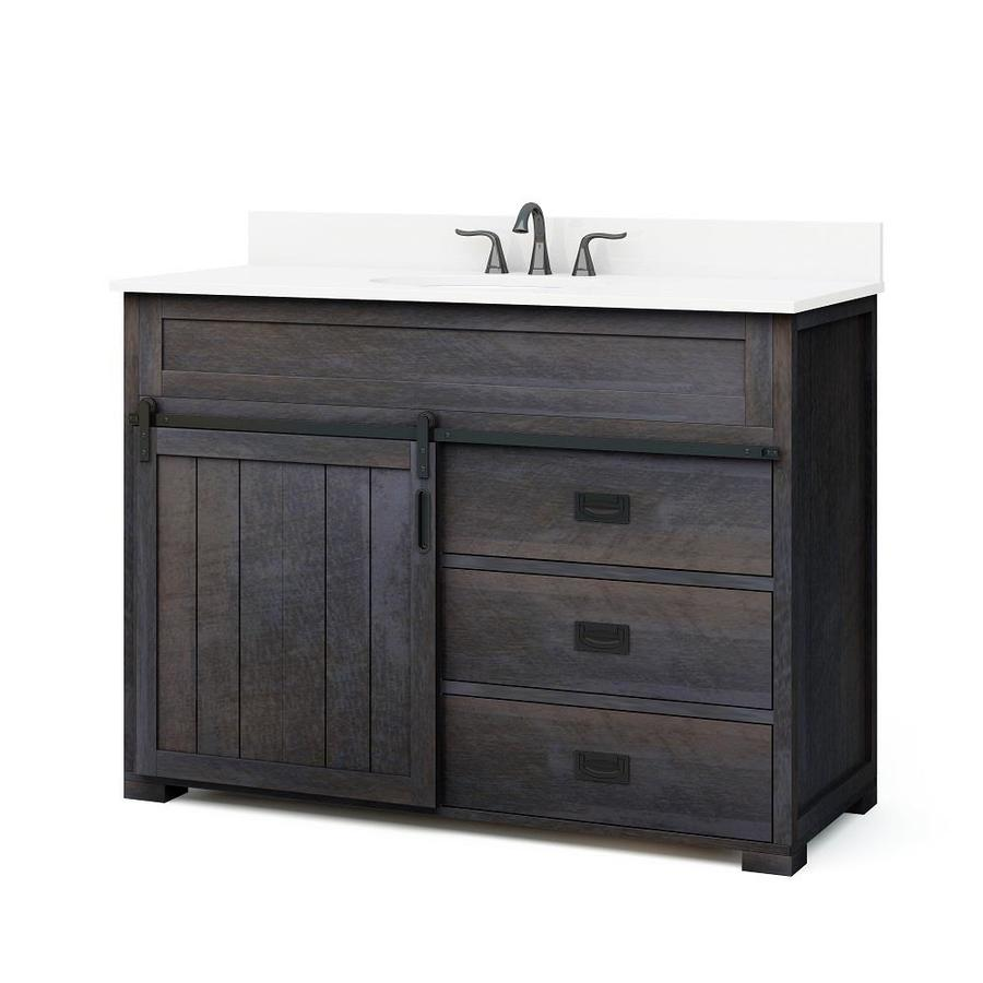 style selections morriston 48 in distressed java single on lowes vanity id=26953