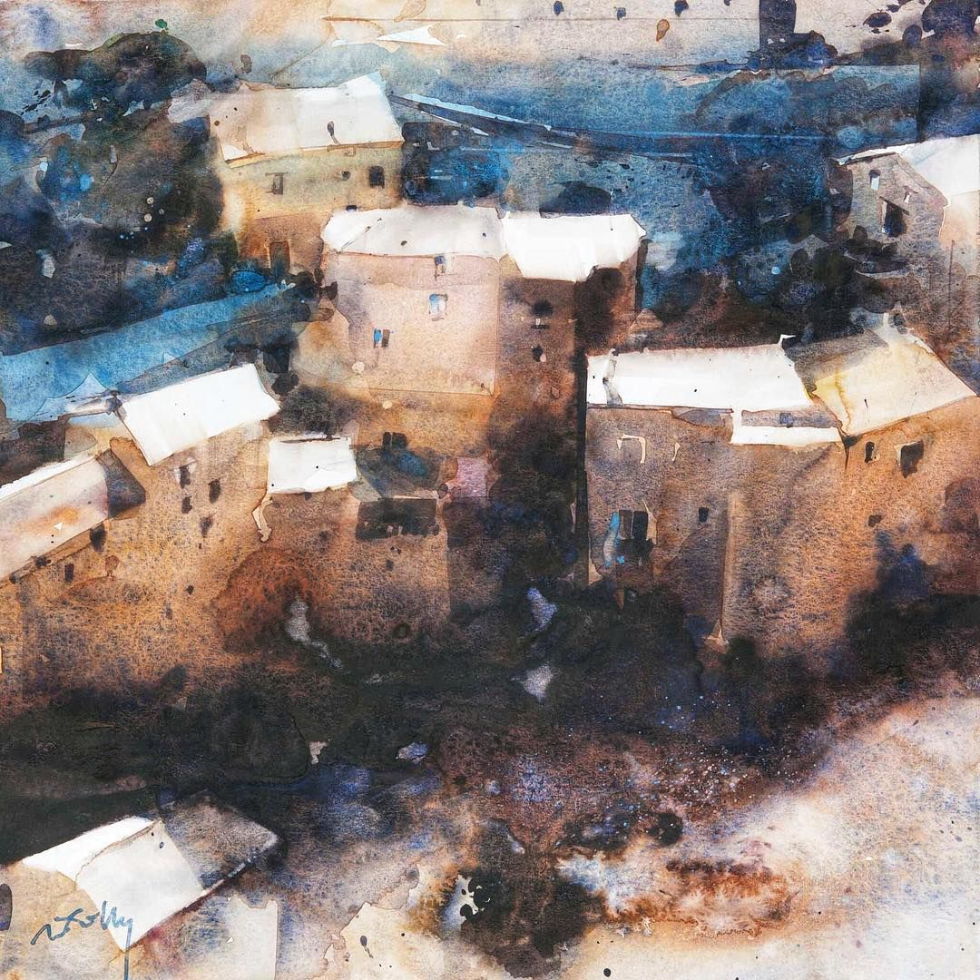 Marc Folly Watercolor Artist On Instagram A Village