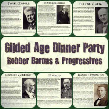 gilded age robber barons progressives dinner party lesson gilded age and baron. Black Bedroom Furniture Sets. Home Design Ideas