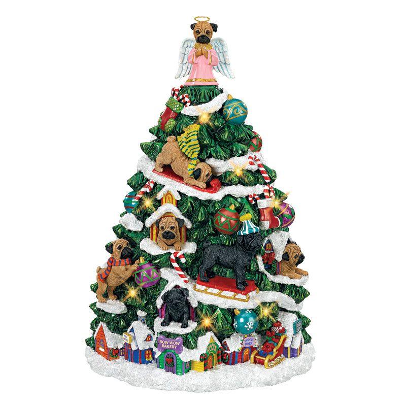 The Pug Christmas Tree | Pug christmas, Christmas tree ...