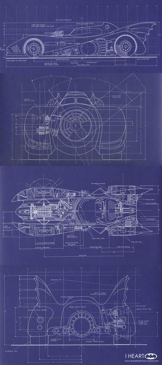 Batmobile Blueprint Marvel -DC Pinterest Batmobile, Batman and - best of blueprint entertainment canada