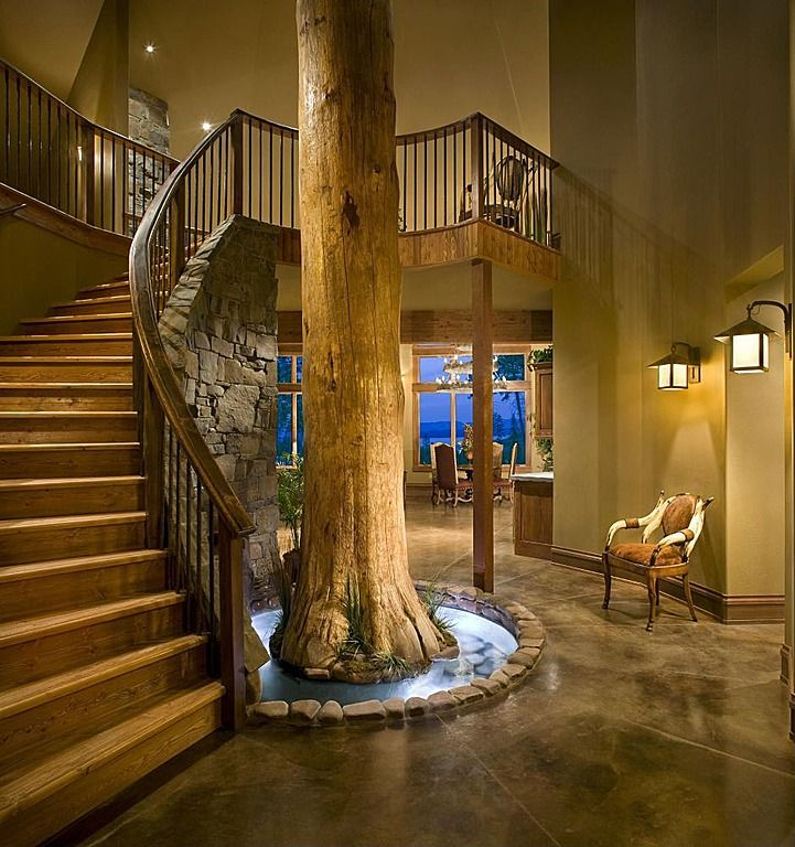 Rustic Staircase Design Ideas Newel Post Design Staircase: Simple, Box, Rustic, Double In 2019