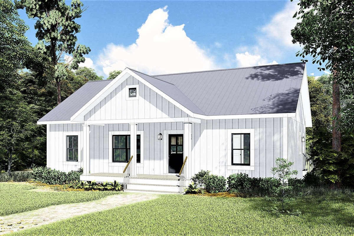 House Plan 1776 00100 Modern Farmhouse Plan 1 311 Square Feet 3 Bedrooms 2 Bathrooms In 2020 Country Style House Plans Coastal House Plans House Plans