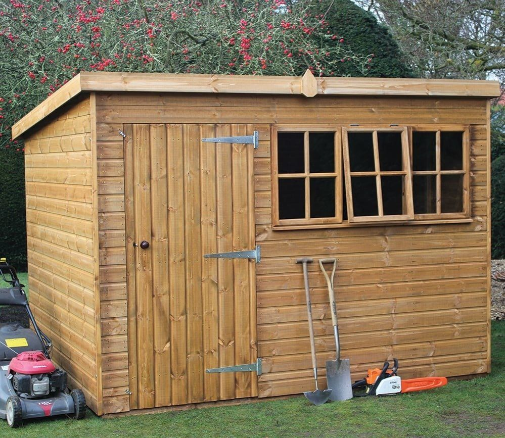 Shedlands 8 X 6 Ft Heavy Duty Pent Garden Shed Shed Plans Building A Shed Shed
