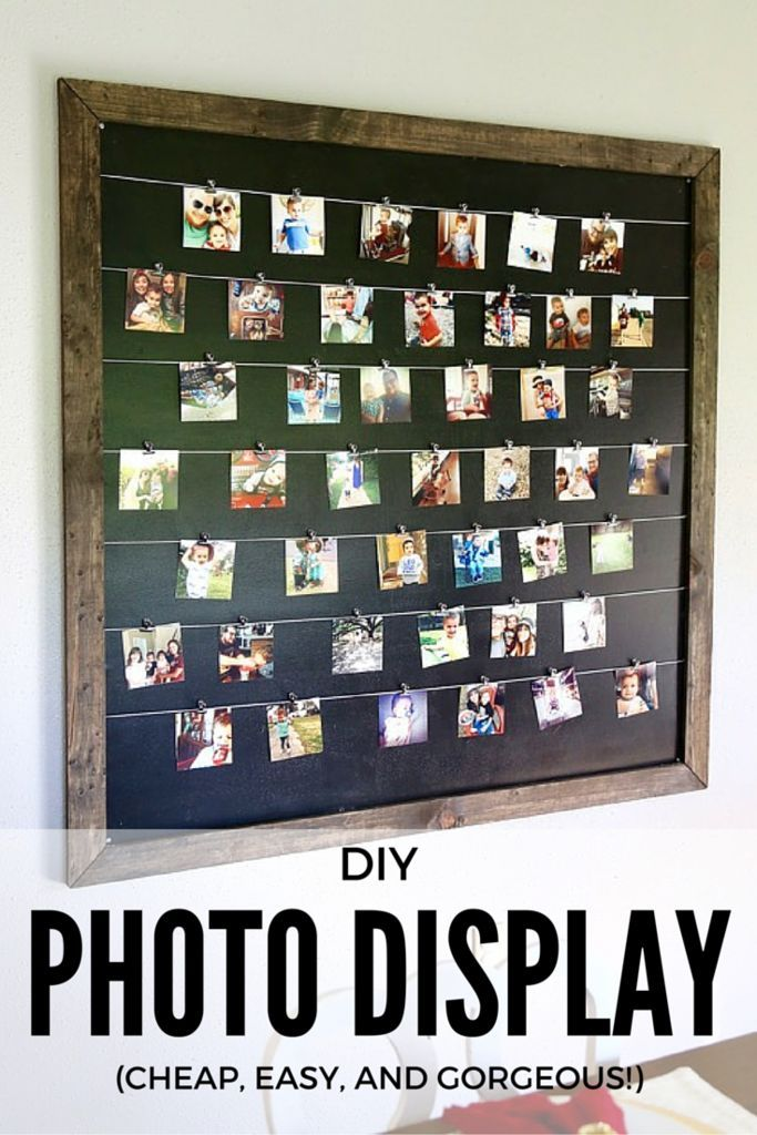 10 Kitchen And Home Decor Items Every 20 Something Needs: Gorgeous, Simple, And Easy DIY Photo Display For Instagram