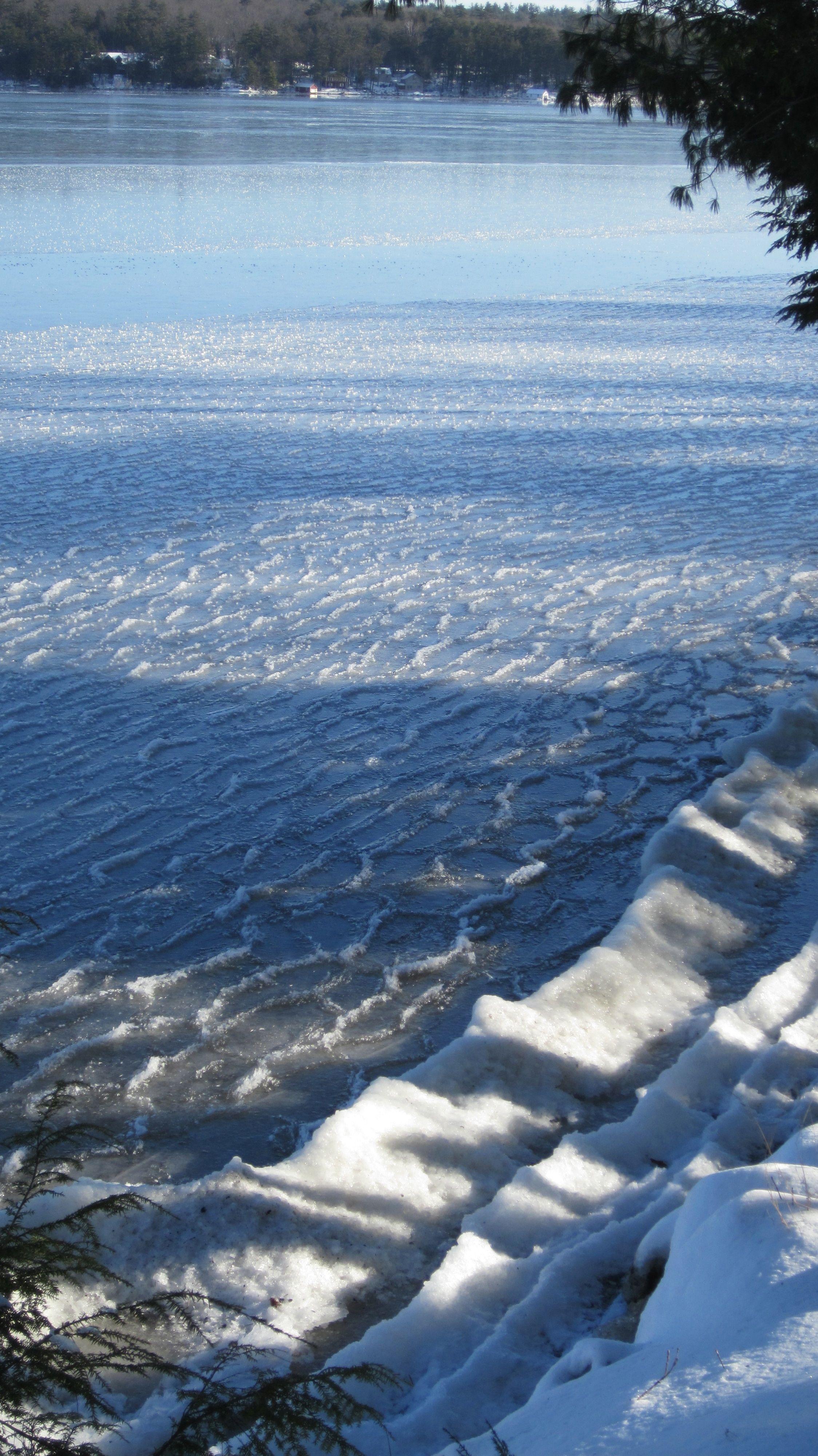 Frozen Waves on Winnisquam January 16, 2012