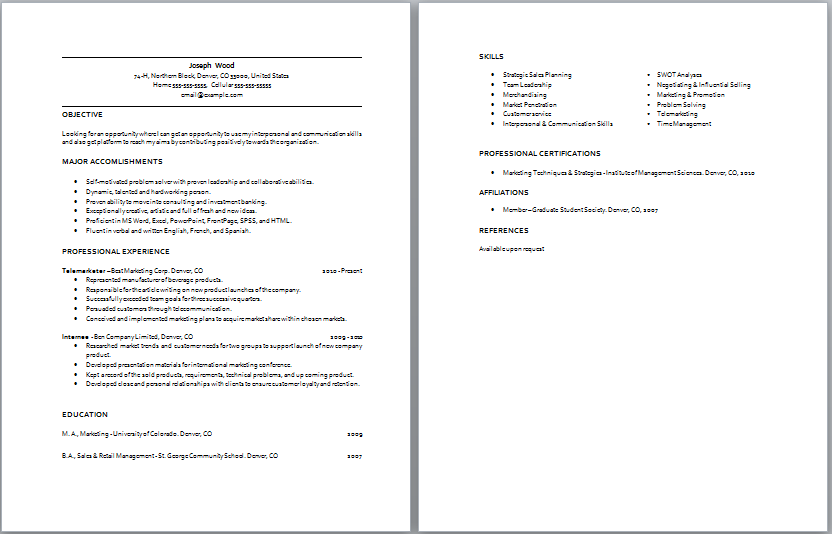 How To Write A Perfect Retail Resume (Examples Included