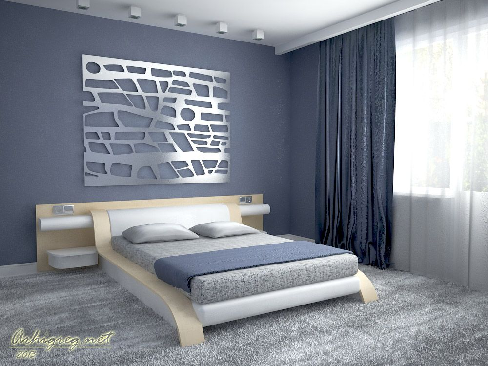 Gorgeous Bedroom Design Of Model Bed