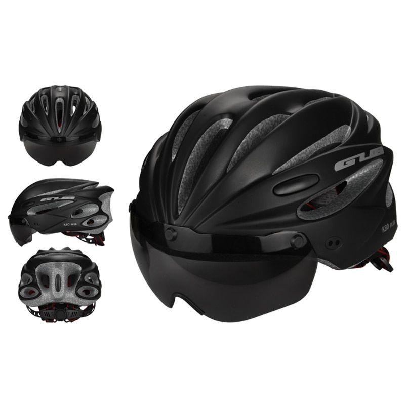 Cycling Helmet MTB Road Bike Sports Bicycle Black Helmet With Goggles Sun Visor