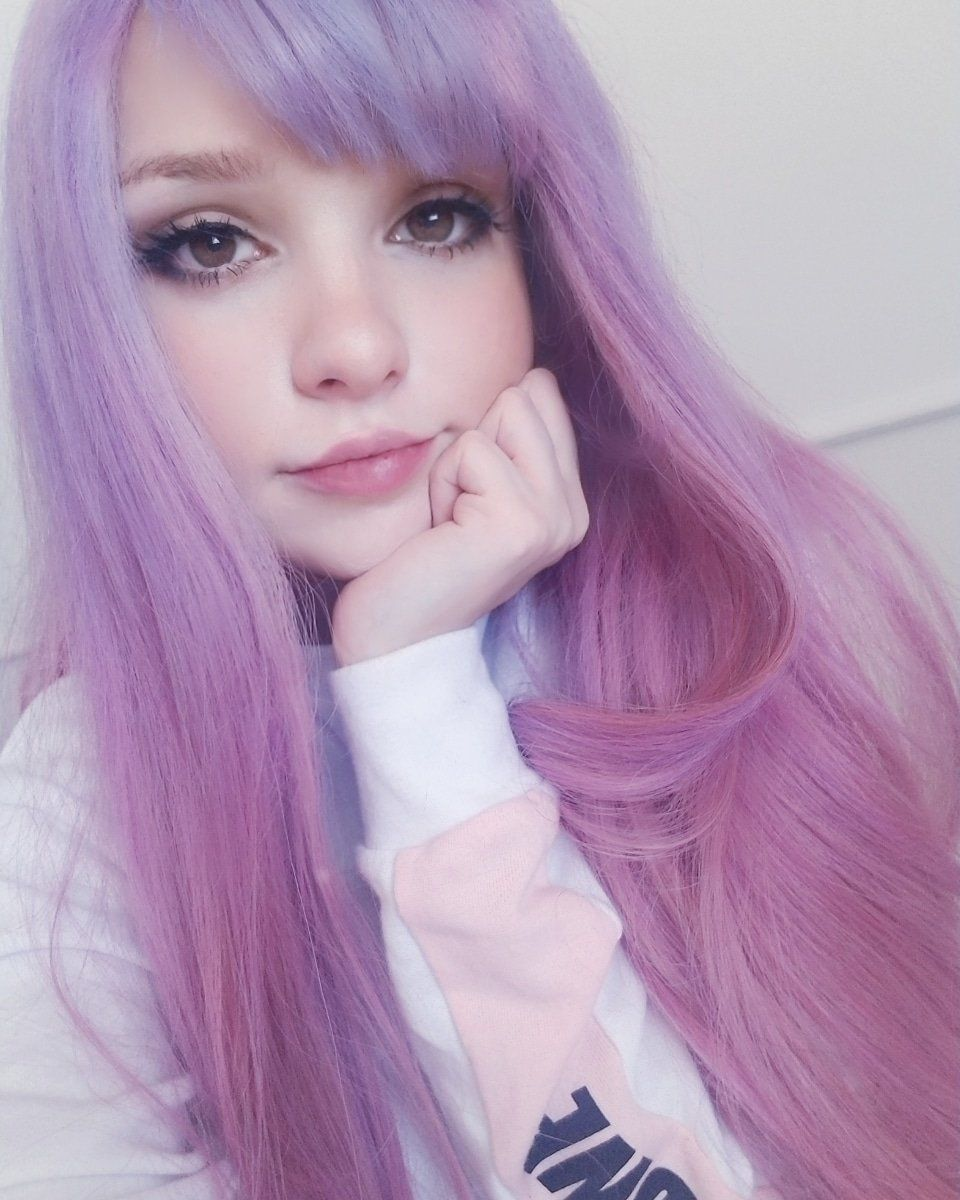 Pastel Goth Girls Cute hair colors, Anime purple hair