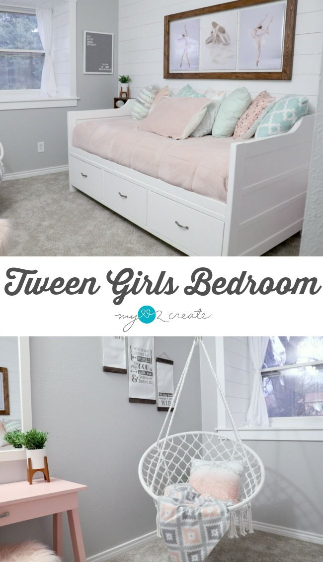 amazing tween girls bedroom reveal loaded with diy projects at mylove2create | tween girl