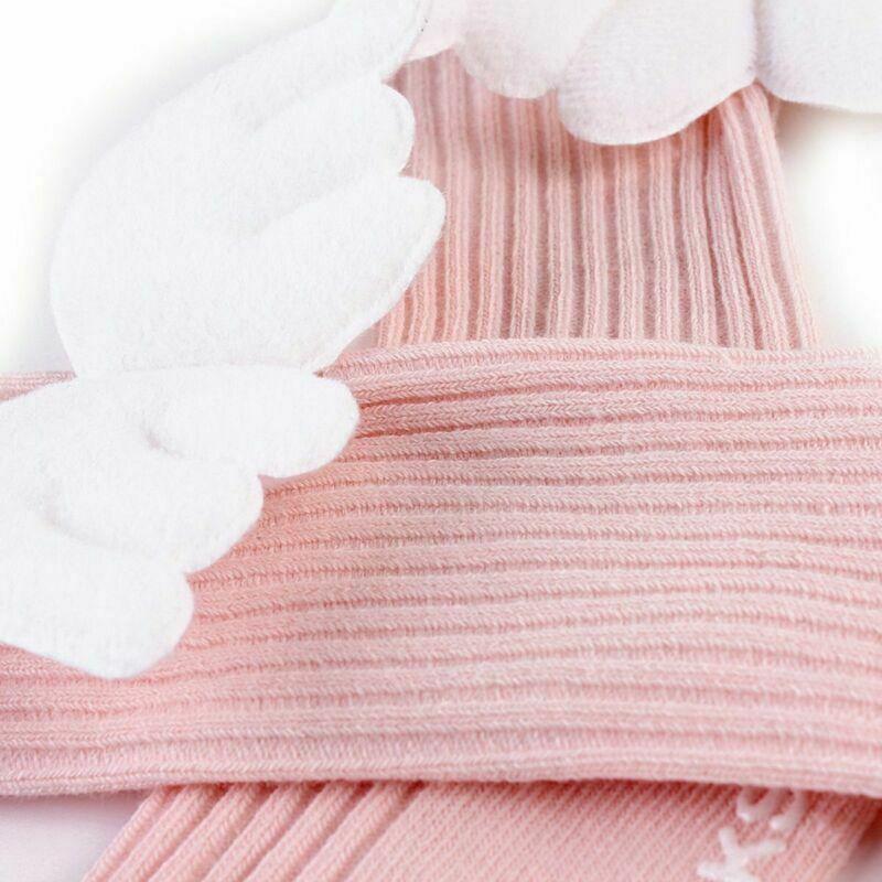 New Cute Baby Cotton Socks Angel Wing Cartoon Hosiery Newborn Toddler Kid Soft
