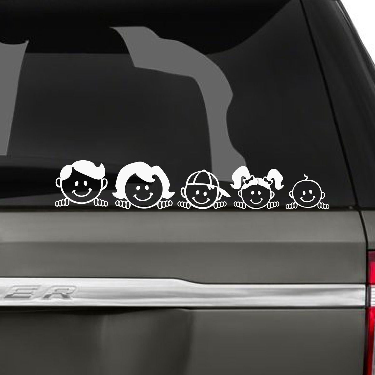 Peeping Family Car Decal Family Car Stickers Family Car Decals Family Car [ 1200 x 1200 Pixel ]