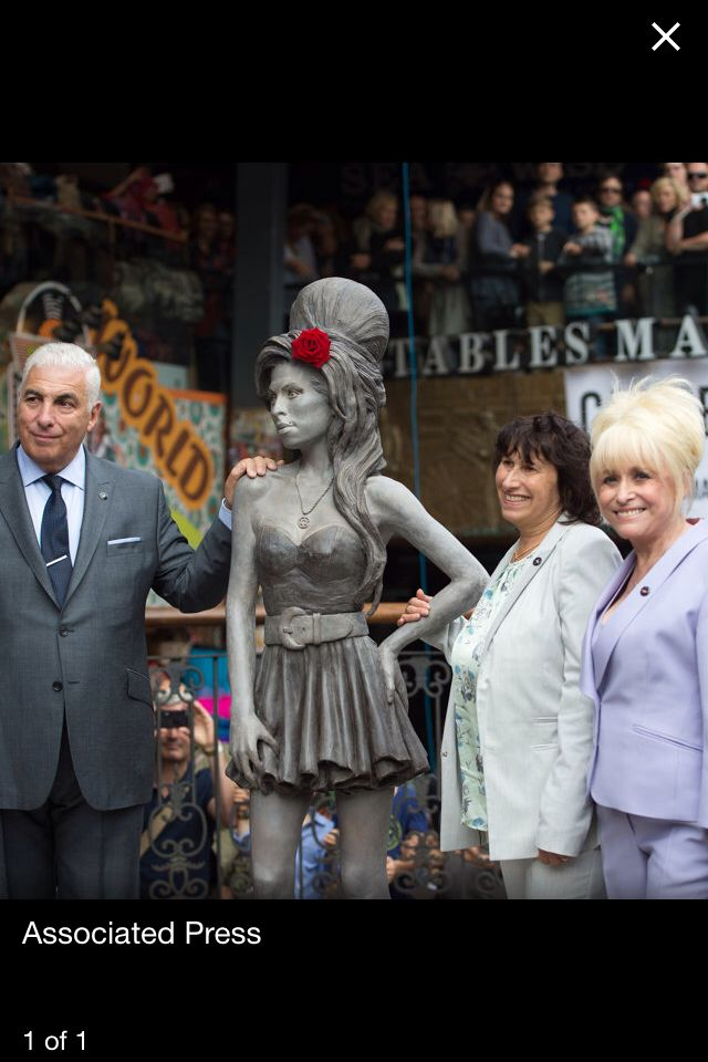 Statue of Amy Winehouse unveiled in London.
