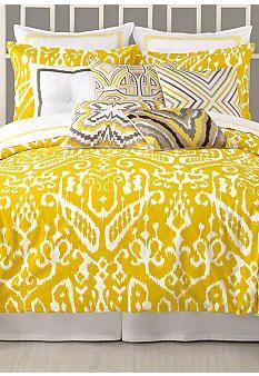 Trina Turk Ikat Yellow Bedding Decorative Pillows Home Decor