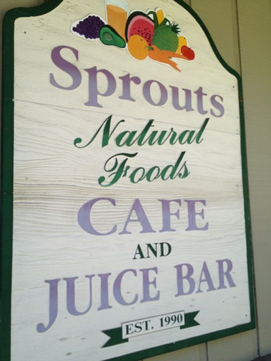 Sprouts Cafe in South Lake Tahoe, CA This is that great place we went on our way out of town last time.   Reviews: http://www.yelp.com/biz/sprouts-cafe-south-lake-tahoe