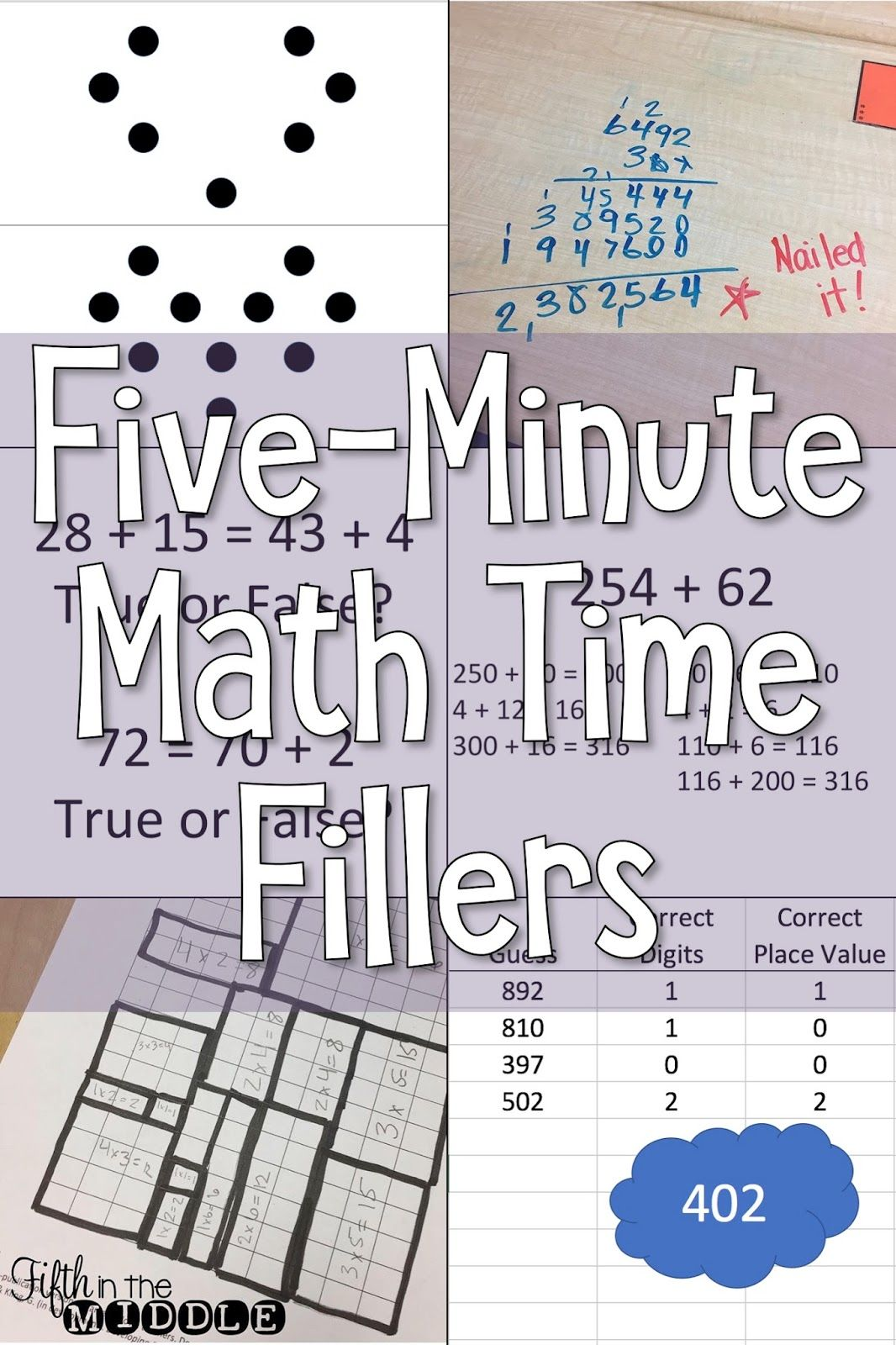 Five Minute Math Fillers