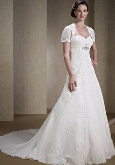 1650dfcde1f75 Classic Lace A line Sweetheart Floor Length Sleeveless Wedding Dresses -  1300300422B - US 289.99 - BellasDress