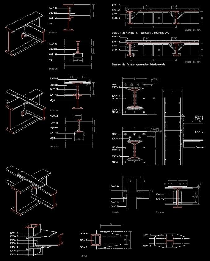 Free Steel Structure Details 5 Free Autocad Blocks Drawings Download Center Steel Structure Steel Structure Buildings Autocad