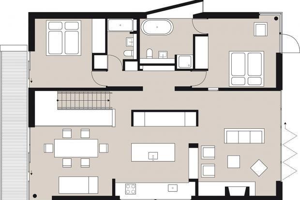 Moderne Einfamilienhäuser Grundrisse Grundriss wohnung