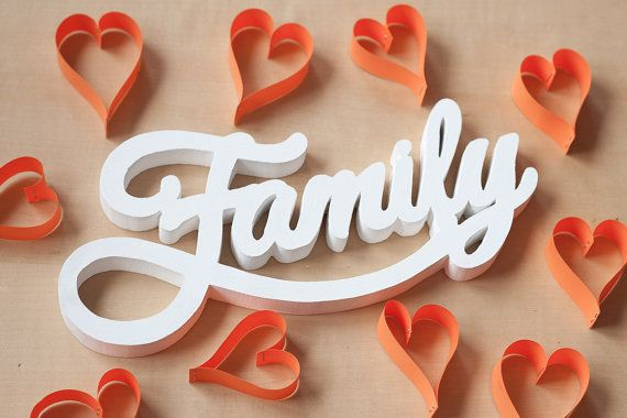 Large Wooden White Letters Word Family Wall Hanging By Metod