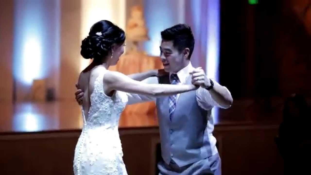 Cute couple does first dance to ed sheeranus
