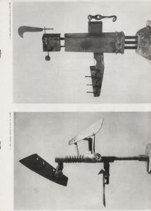 Author of the reproduced work: Colla Ettore Caption: e. colla, allarme, scultura in ferro, cm 70, 1955 Year of the work: 1955 Image typology: sculpture Typology: intratext