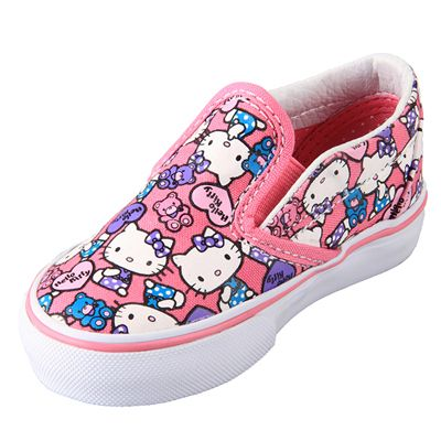 Vans VN-0QFC66X Toddler Classic Slip On Hello Kitty Azalea Pink True white  Shoe   39.99 ! Buy now at GetShoes.ca fa9f48229